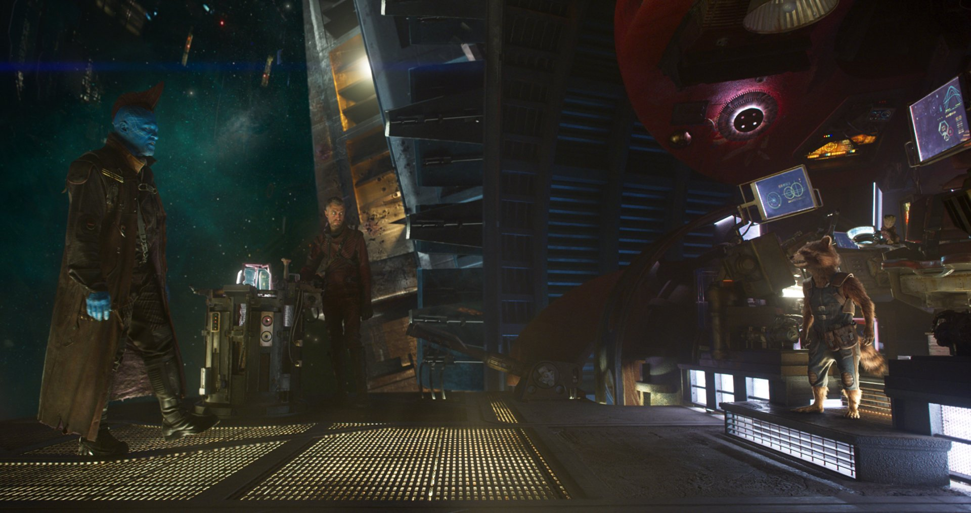 Movie - Guardians of the Galaxy Vol. 2  Rocket Raccoon Sean Gunn Michael Rooker Yondu Udonta Wallpaper