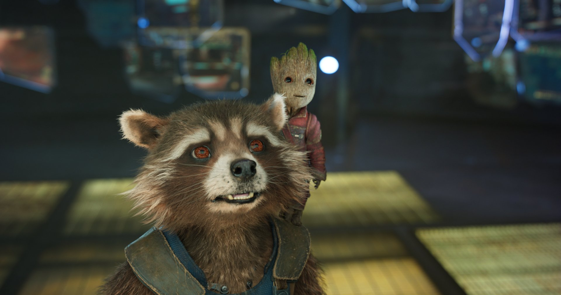 Movie - Guardians of the Galaxy Vol. 2  Rocket Raccoon Baby Groot Wallpaper