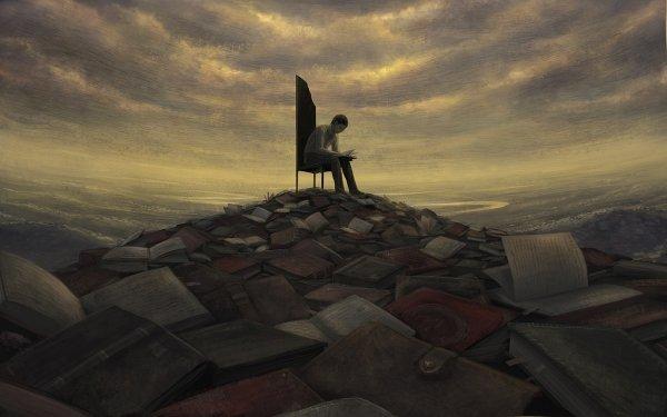 Fantaisie Book Man Fond d'écran HD   Arrière-Plan