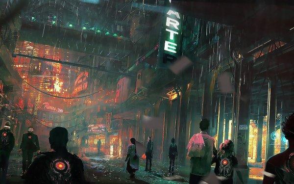 Sci Fi City Cyberpunk Cityscape HD Wallpaper | Background Image