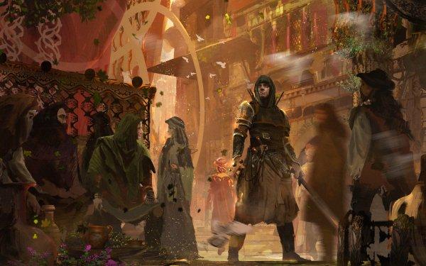 Fantasy Warrior People Sword Assassin HD Wallpaper | Background Image