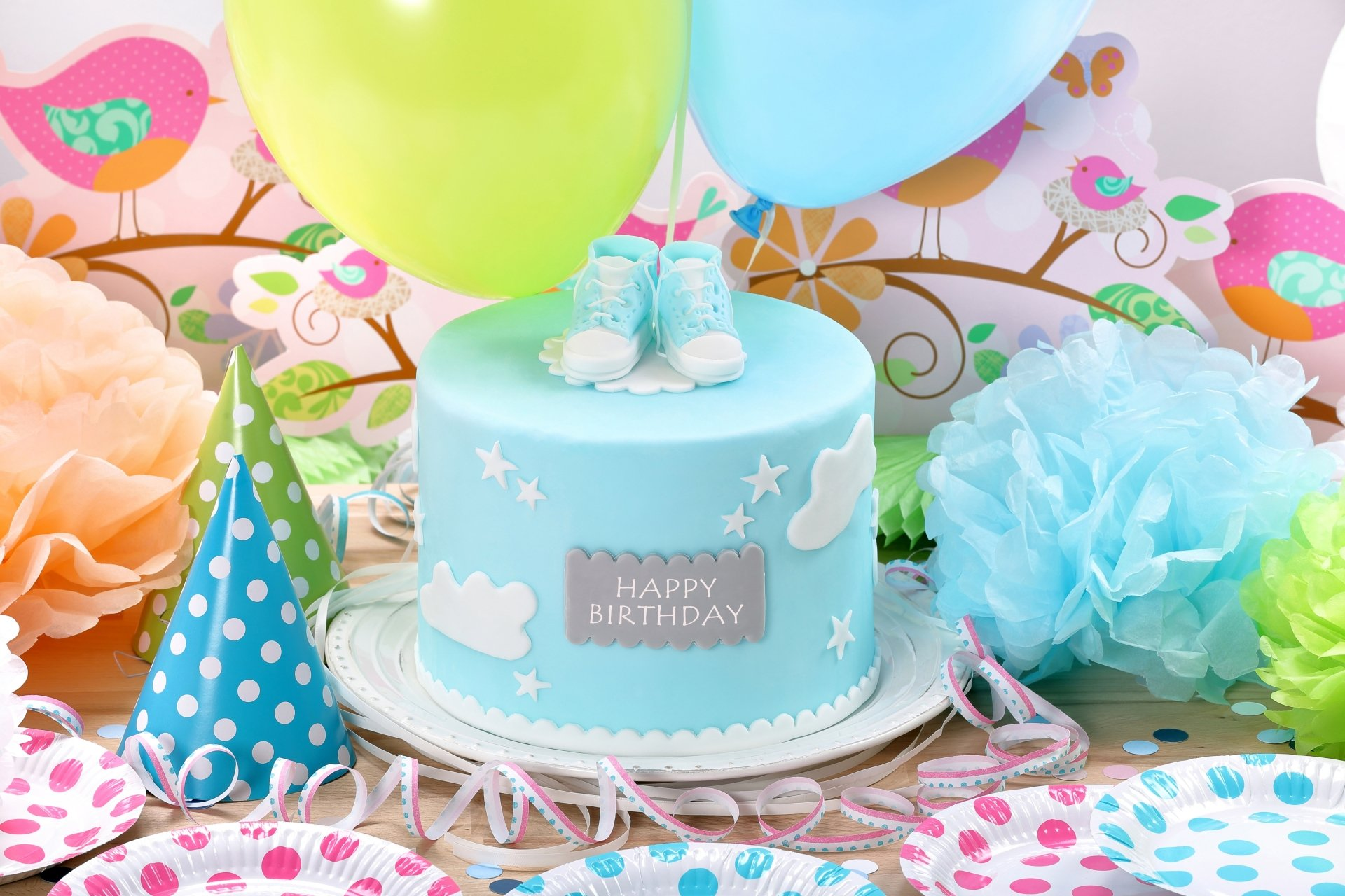 Holiday - Birthday  Happy Birthday Cake Pastry Colors Celebration Wallpaper