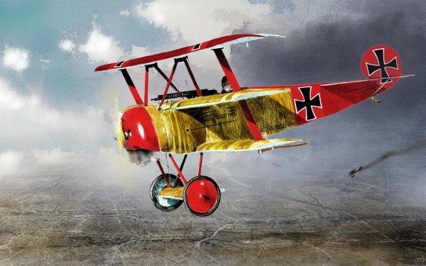 Military Fokker Dr.I Military Aircraft Manfred von Richthofen World War I Red Baron HD Wallpaper   Background Image
