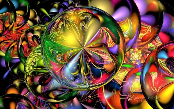 Abstract Fractal Colorful Circle Swirl HD Wallpaper | Background Image