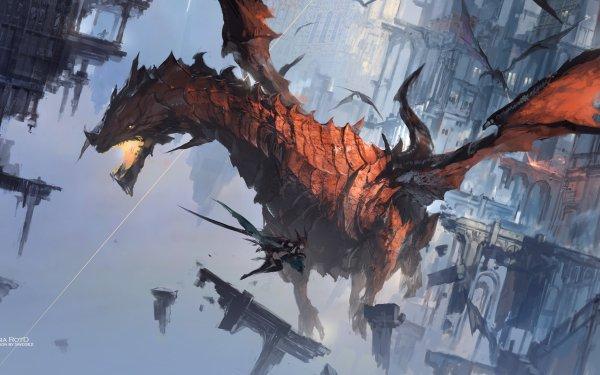 Anime Pixiv Fantasia RD Dragon HD Wallpaper | Background Image