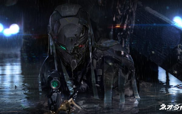 Sci Fi Robot Dark Soldier Neo Japan 2202 Rain HD Wallpaper | Background Image