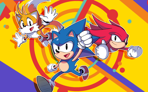 """Video Game Sonic Mania Sonic Sonic the Hedgehog Knuckles the Echidna Miles """"Tails"""" Prower HD Wallpaper 
