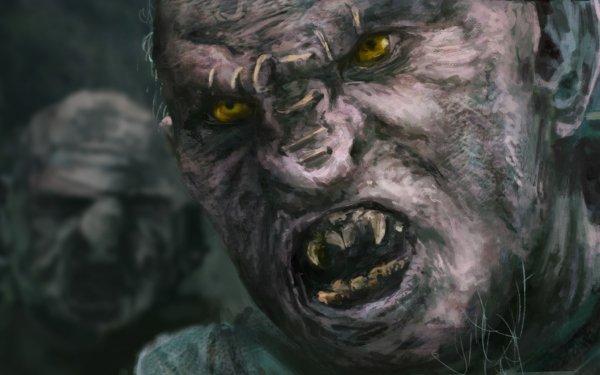 Fantaisie Orc Créature Face Yellow Eyes Fond d'écran HD | Image