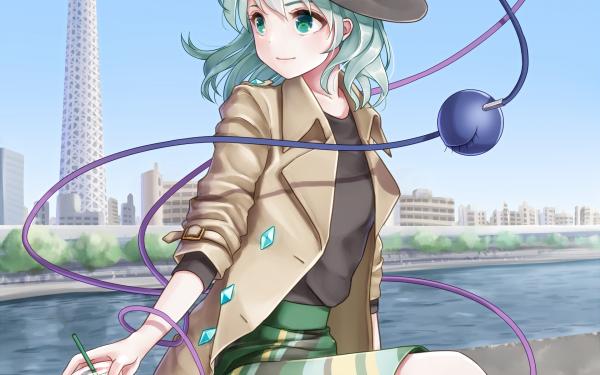 Anime Touhou Koishi Komeiji Hat Short Hair HD Wallpaper | Background Image