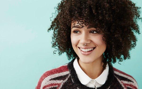 Celebrity Nathalie Emmanuel Actresses United Kingdom Piercing English Actress Brunette Brown Eyes Smile Face HD Wallpaper | Background Image