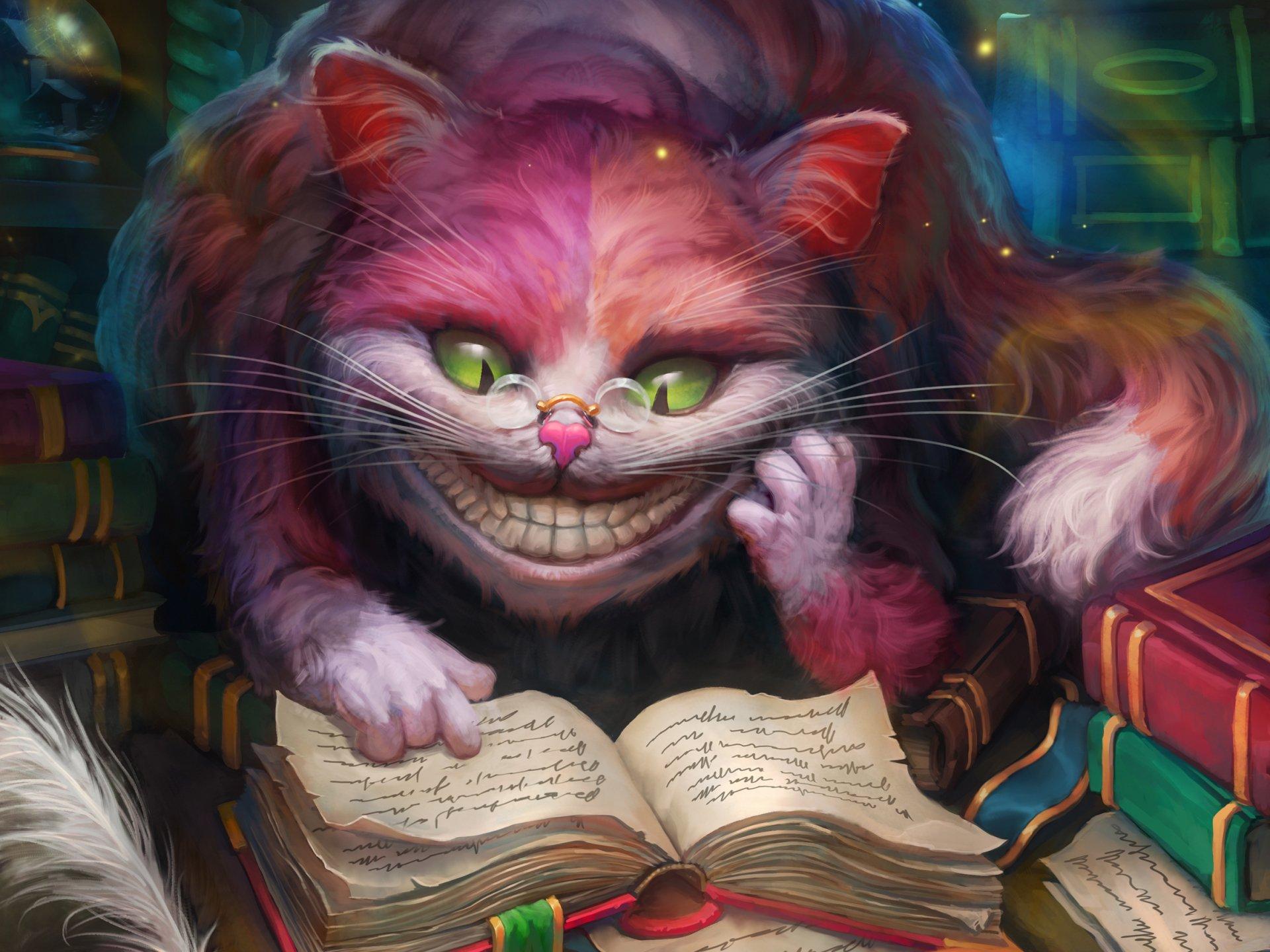 奇幻 - 爱丽丝梦游仙境  电影 Cheshire Cat 壁纸