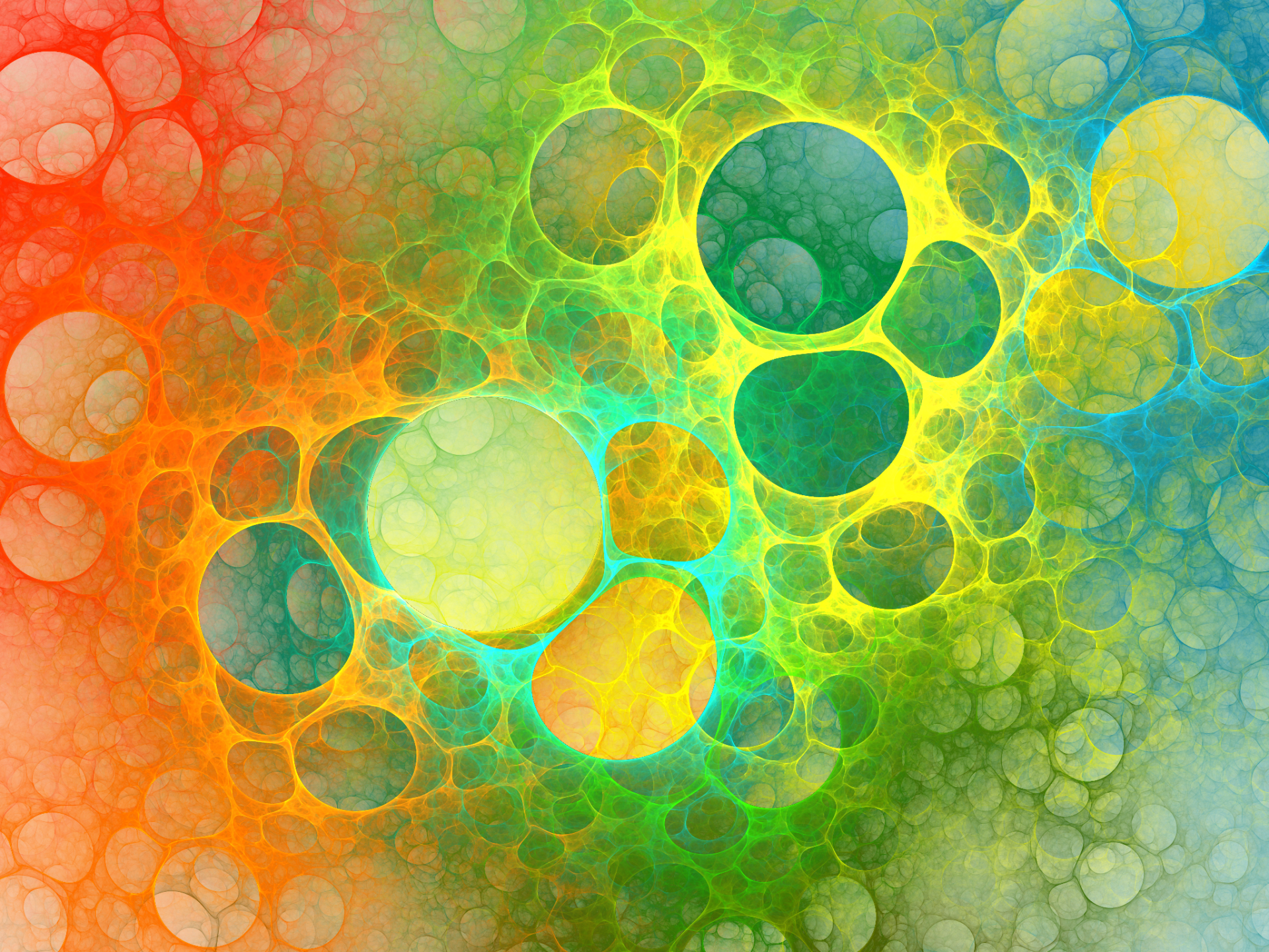 Abstract - Fractal  Abstract Apophysis (software) Colorful Bubble Wallpaper