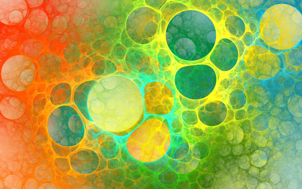 Abstract Fractal Apophysis Colorful Bubble HD Wallpaper | Background Image