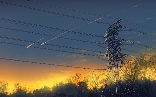 Anime Original Power Line HD Wallpaper | Background Image