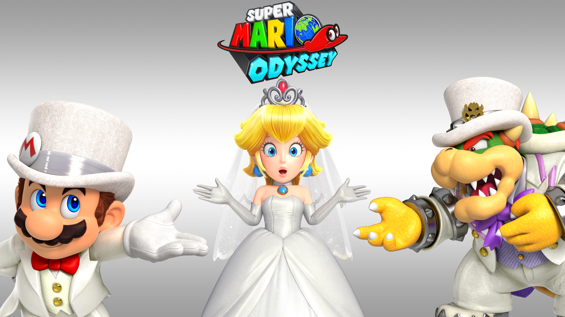 Video Game - Super Mario Odyssey  Super Mario Bowser Princess Peach Wallpaper