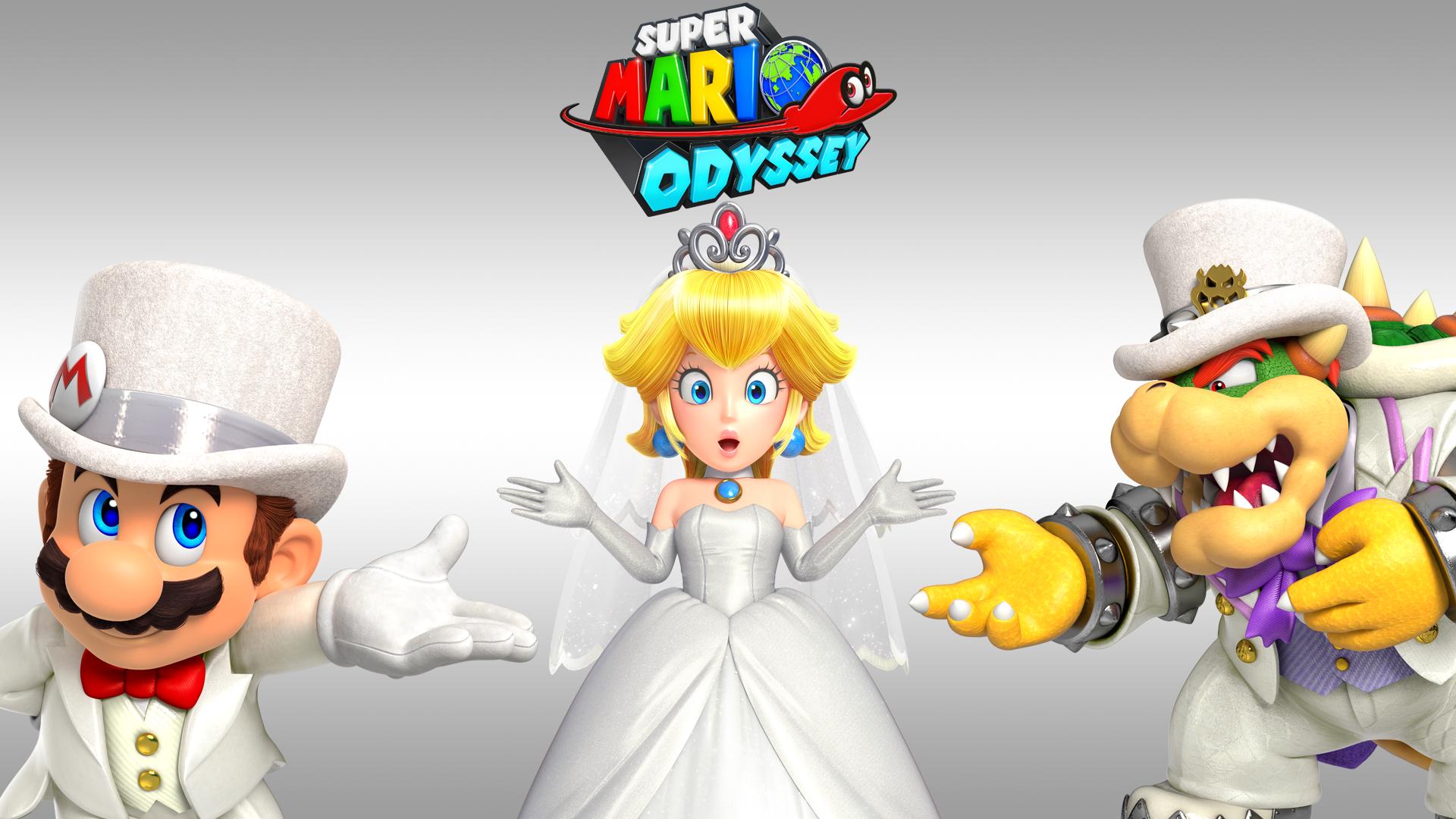 Videojuego - Super Mario Odyssey  Super Mario Bowser Princess Peach Fondo de Pantalla