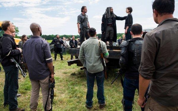 TV Show The Walking Dead Andrew Lincoln Rick Grimes Khary Payton Ezekiel Maggie Greene Lauren Cohan HD Wallpaper | Background Image