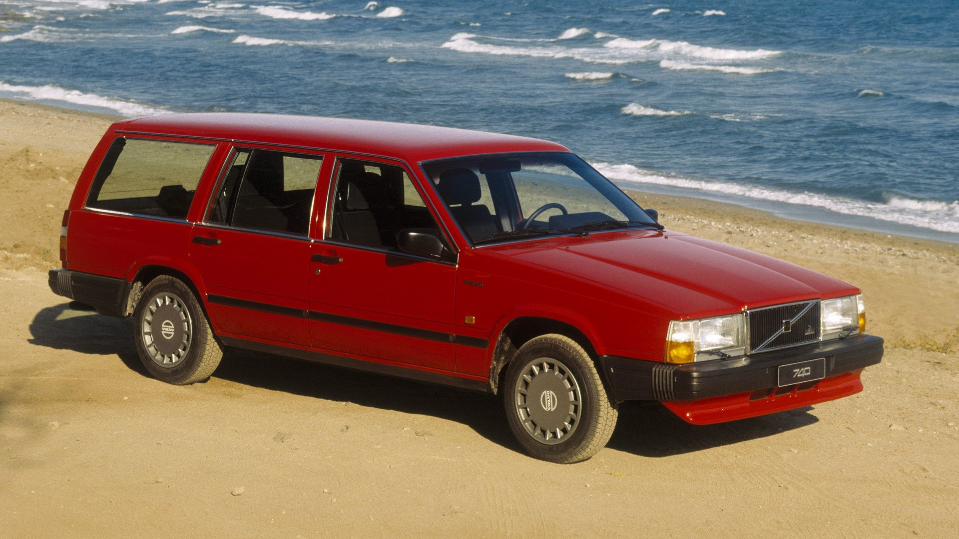 Vehicles - Volvo 700 Series  Kombi Red Car Wallpaper