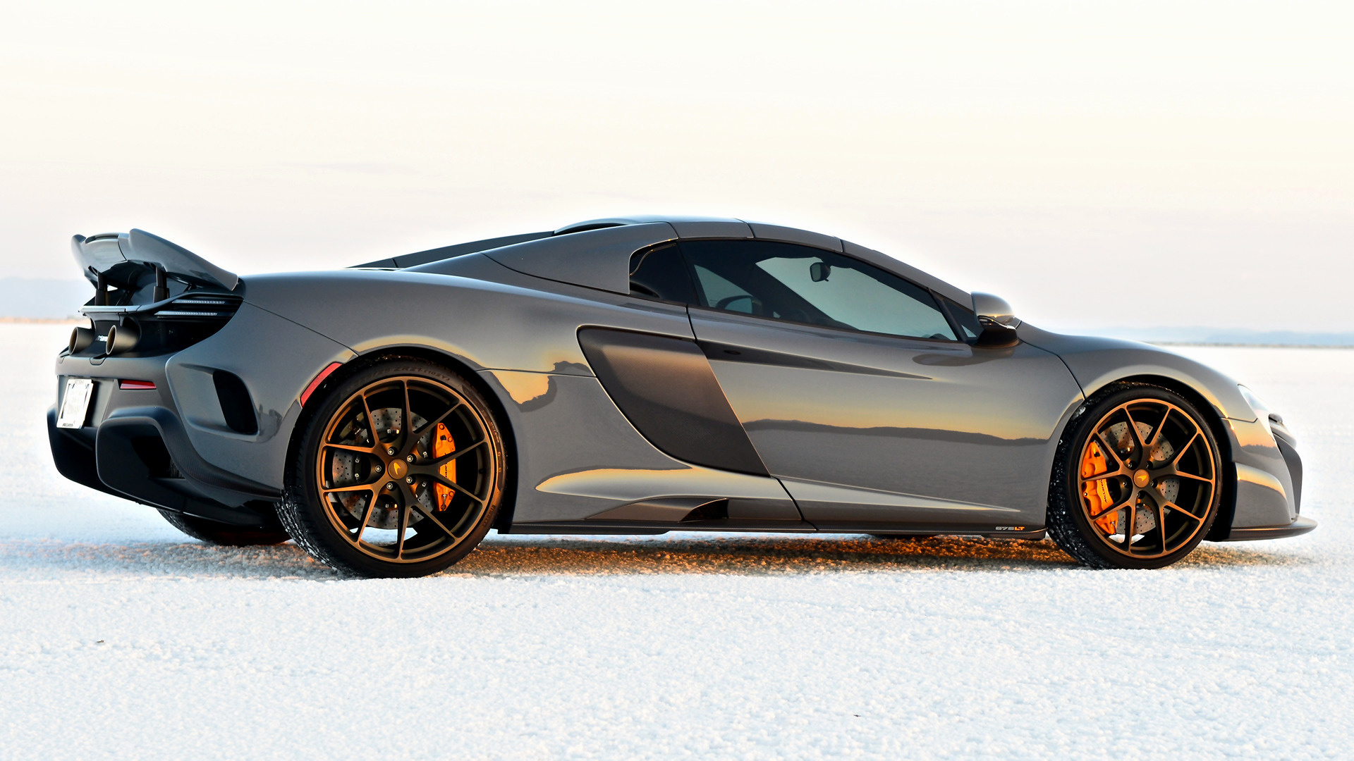 2017 McLaren 675LT Spider in the Snow HD Wallpaper | Background ...