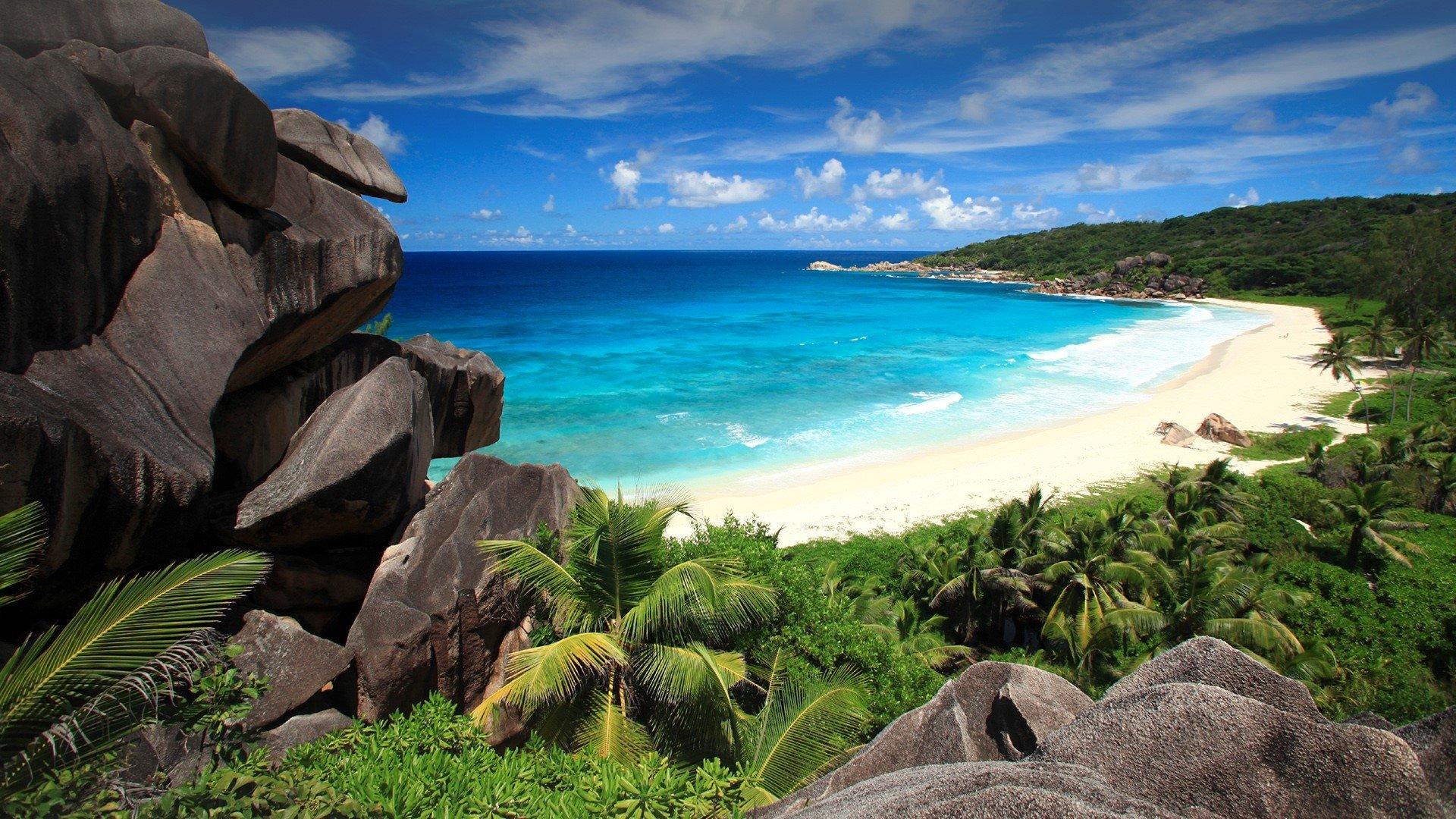 Grand anse beach seychelles map