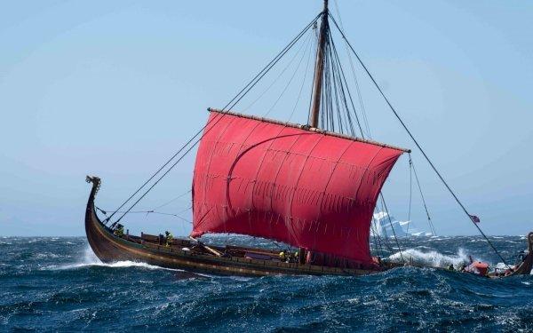 Vehicles Viking ship Ship Viking Sailing HD Wallpaper | Background Image