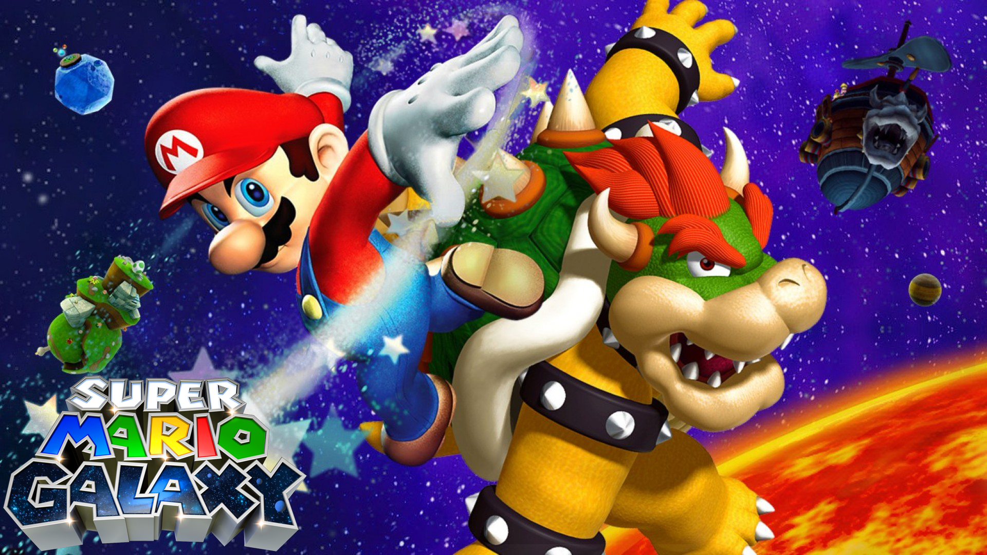 Super Mario Galaxy Wallpaper Fondo De Pantalla Hd Fondo De
