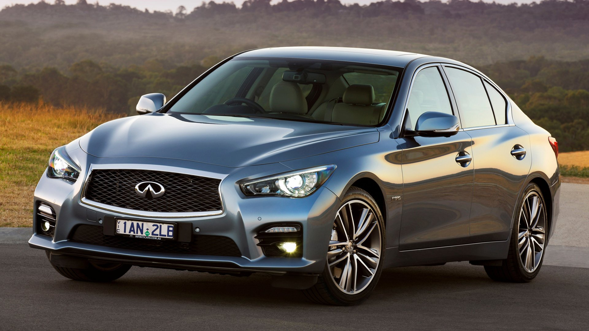 Vehicles - Infiniti Q50  Hybrid Car Luxury Car Compact Car Sedan Silver Car Car Wallpaper