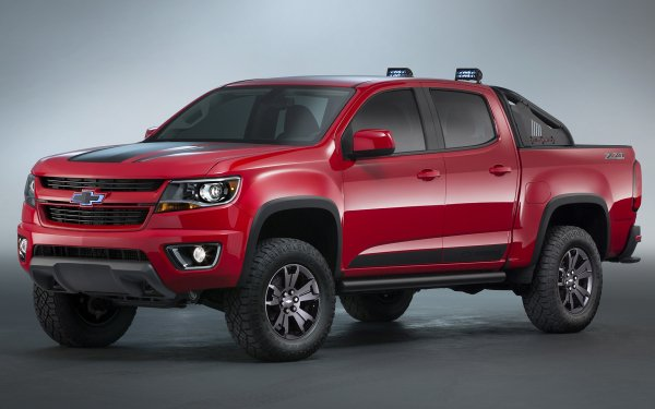 Vehicles Chevrolet Colorado Chevrolet Pickup Concept Car Red Car Car HD Wallpaper | Background Image