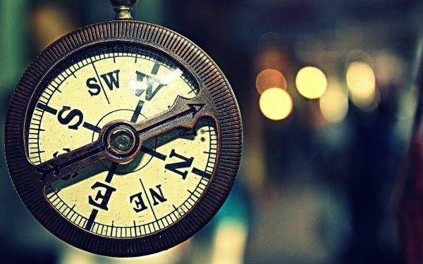Man Made Compass Bokeh HD Wallpaper | Background Image