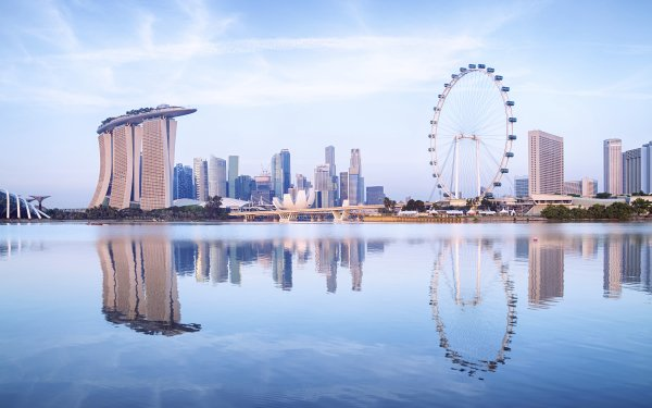 Man Made Marina Bay Sands Buildings Singapore Building Skyscraper Reflection HD Wallpaper   Background Image
