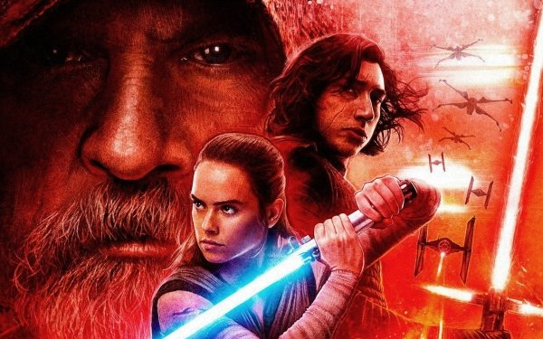 Movie Star Wars: The Last Jedi Star Wars Mark Hamill Luke Skywalker Daisy Ridley Rey Adam Driver Kylo Ren TIE Fighter X-Wing Lightsaber HD Wallpaper | Background Image