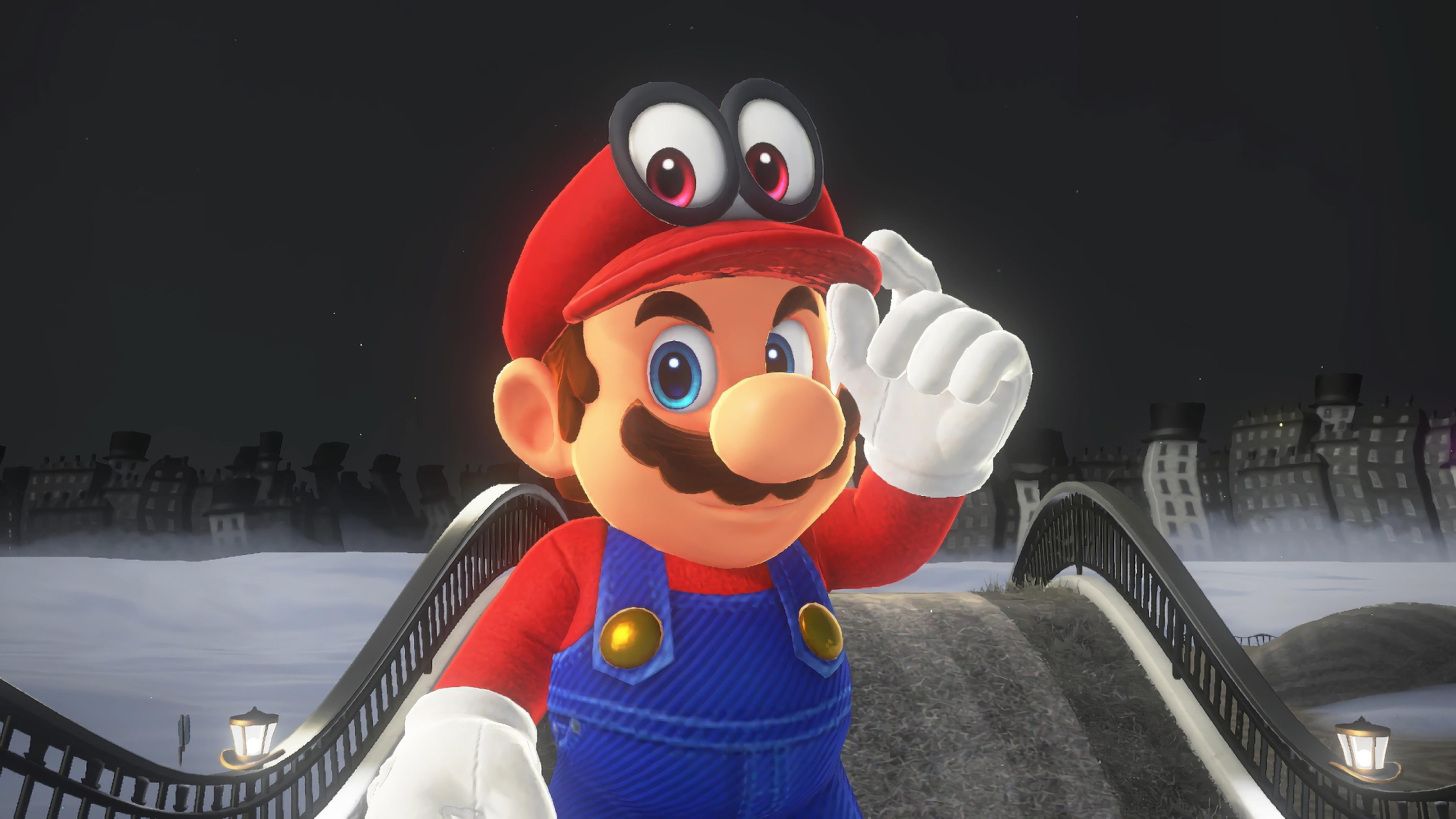 Super Mario Odyssey Mario Cappy Wallpaper 4k Ultra Hd