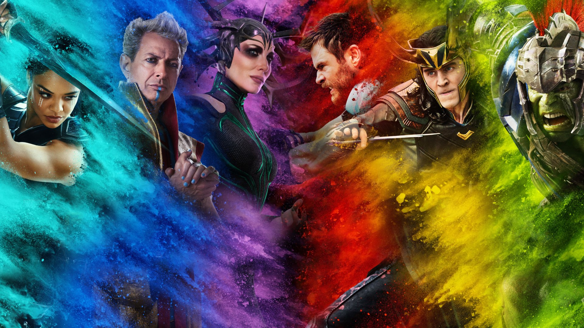 Movie - Thor: Ragnarok  Valkyrie (Marvel Comics) Tessa Thompson Hela (Marvel Comics) Cate Blanchett Grandmaster (Marvel Comics) Jeff Goldblum Thor Chris Hemsworth Loki Tom Hiddleston Hulk Mark Ruffalo Wallpaper