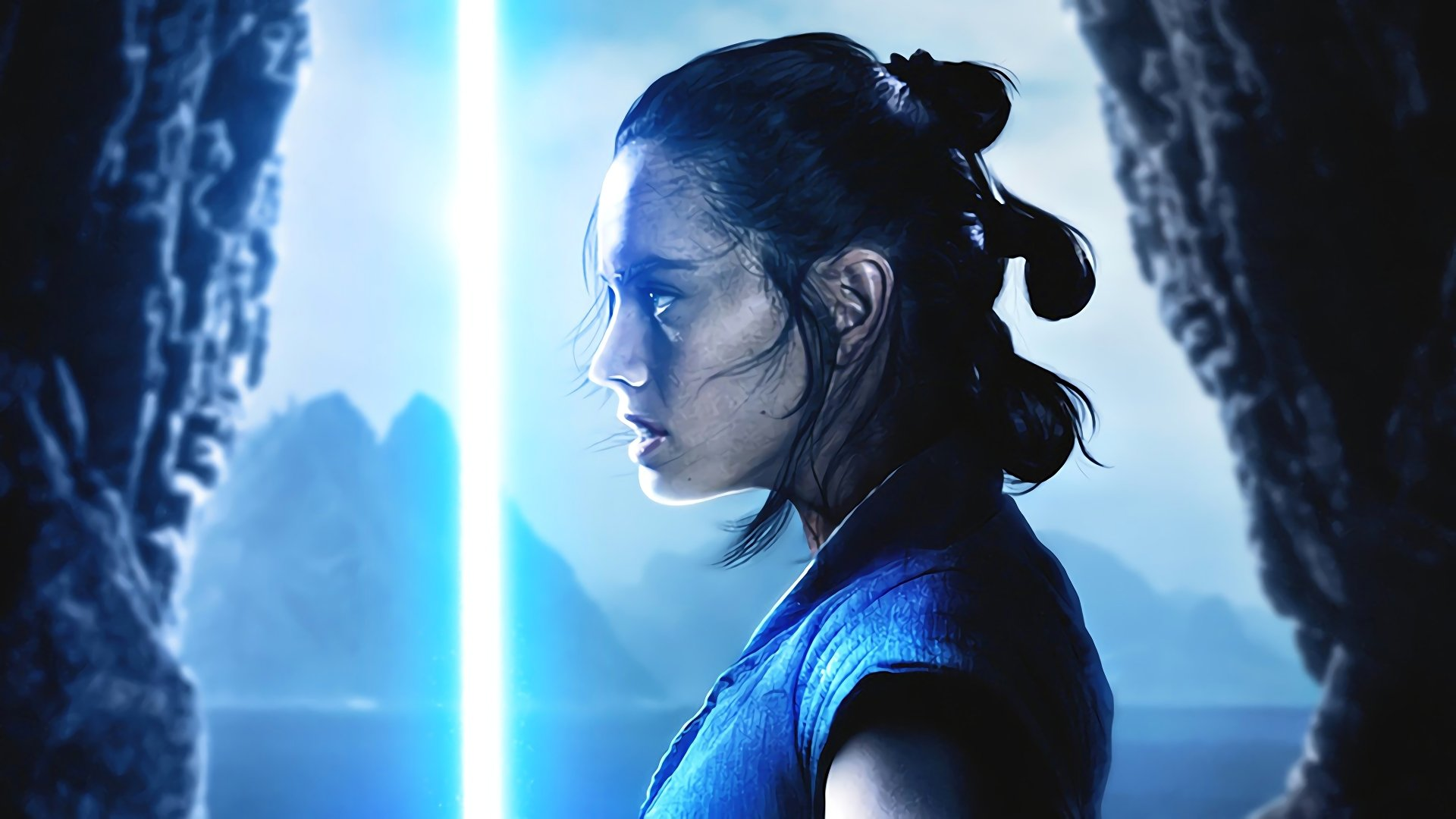 Rey Lightsaber Hd Wallpaper Background Image 1920x1080 Id