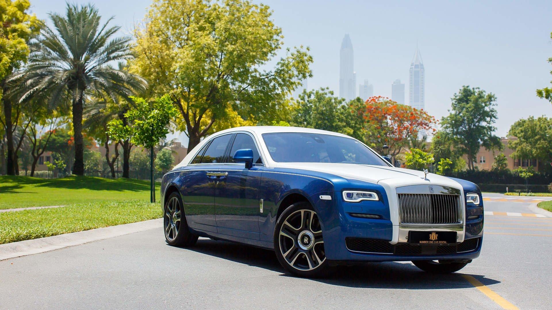 Vehicles - Rolls-Royce Ghost  Luxury Car Blue Car Car Wallpaper