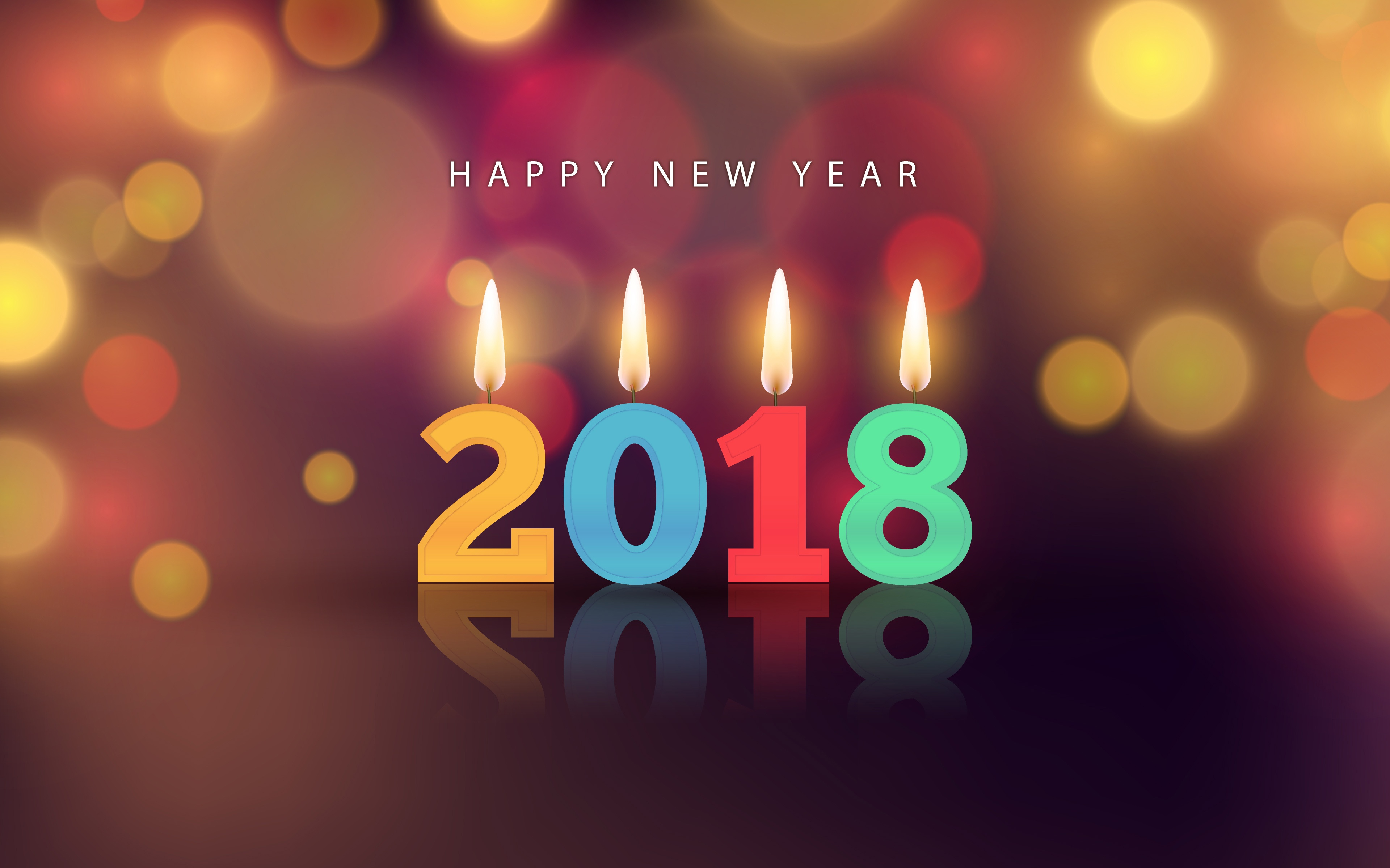 gift new year 2018 hd wallpaper background image id888173