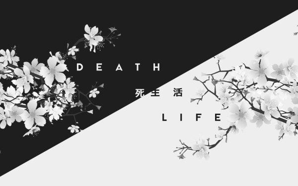 Artistic Black & White Life Death Kanji Japan HD Wallpaper | Background Image