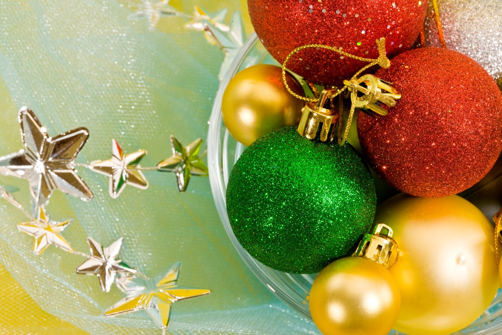 Holiday - Christmas  Decoration Colors Star Bauble Wallpaper