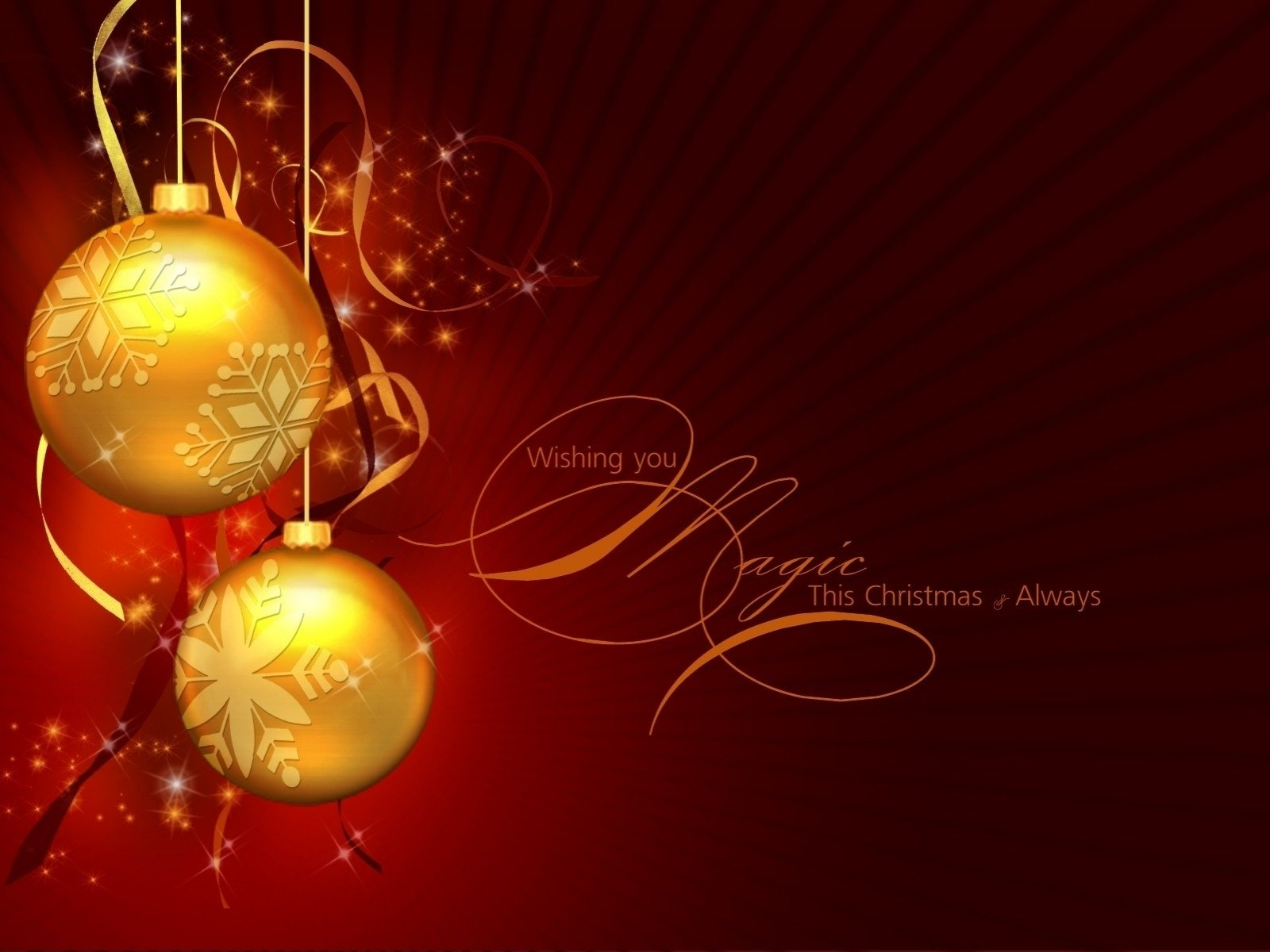 Holiday - Christmas  Decoration Bauble Golden Wallpaper