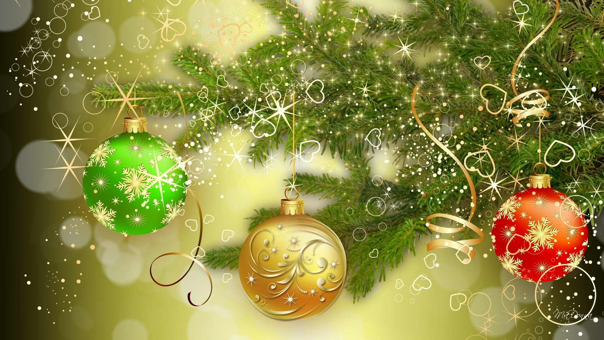 Holiday - Christmas  Decoration Bauble Wallpaper