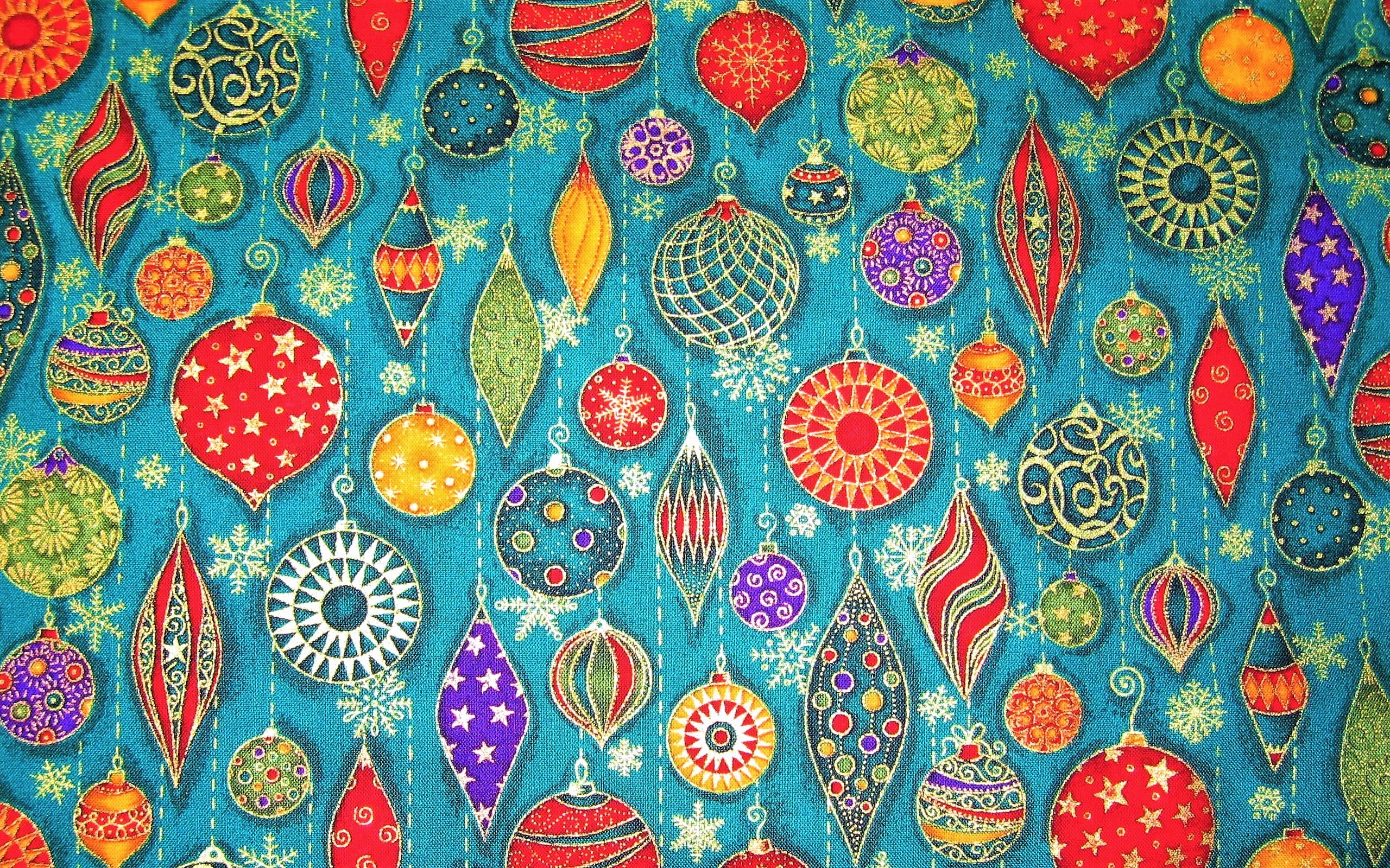 Colorful Christmas Ornaments Hd Wallpaper Background Image