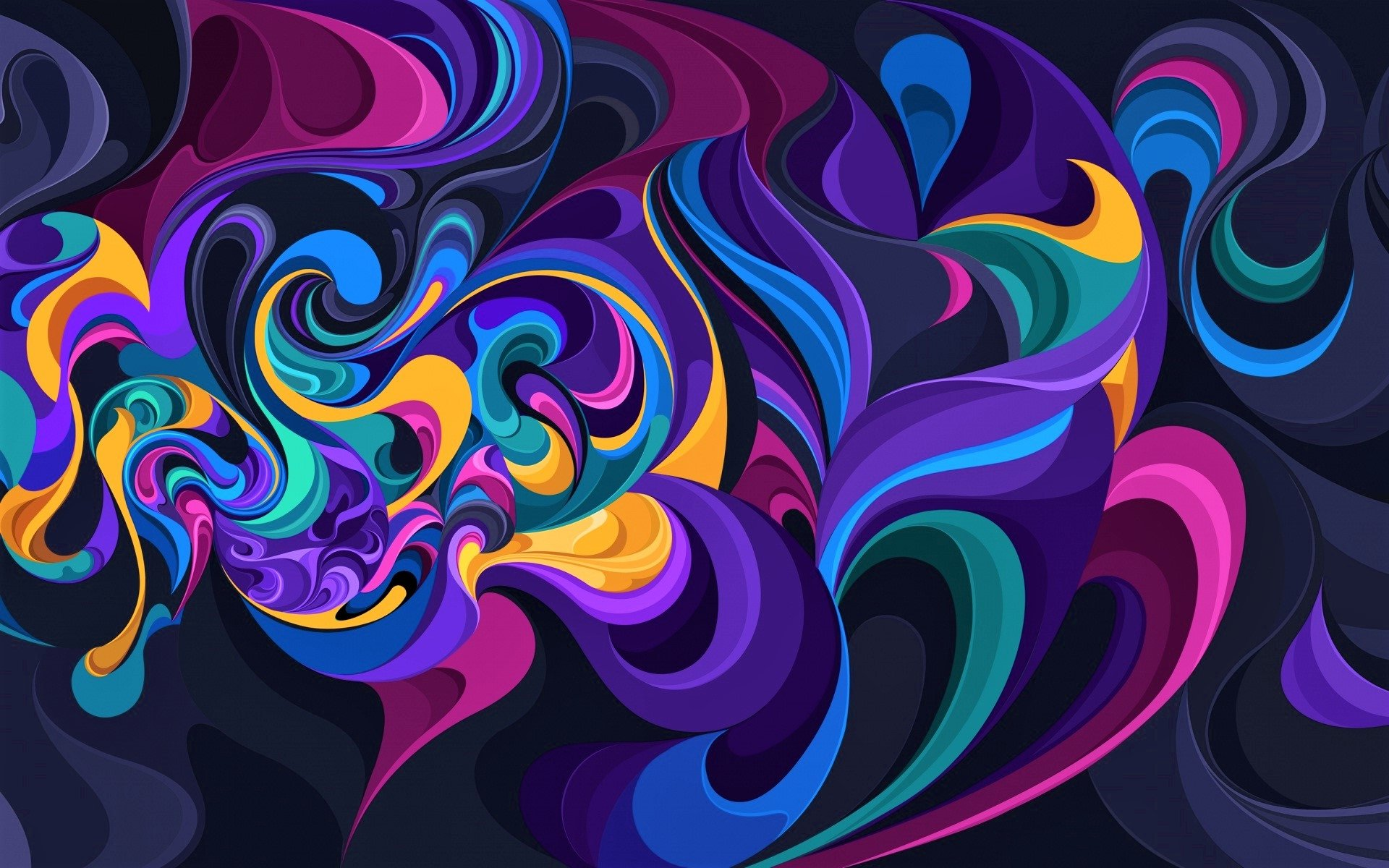 Colorful Abstract Art Hd Wallpaper Background Image