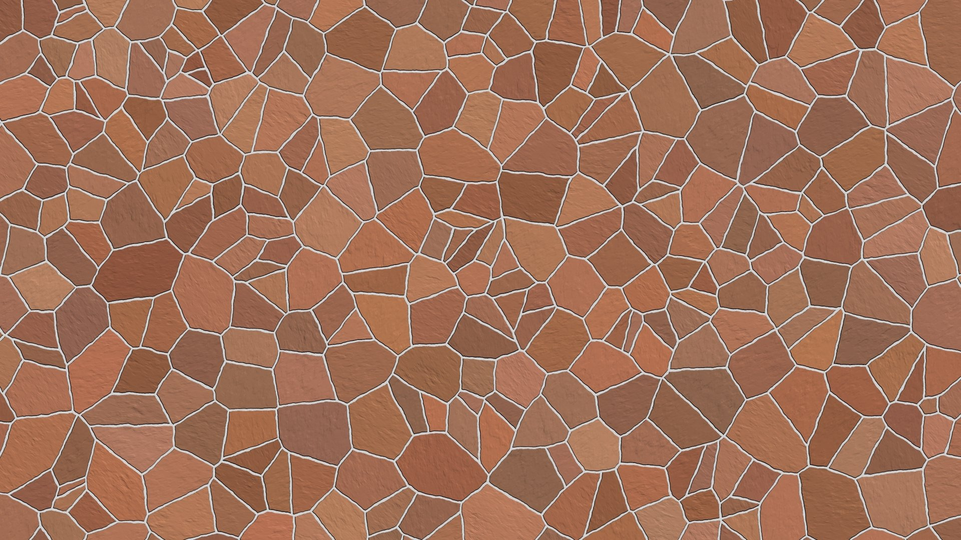 Pattern - Mosaic  Pattern Brown Wallpaper