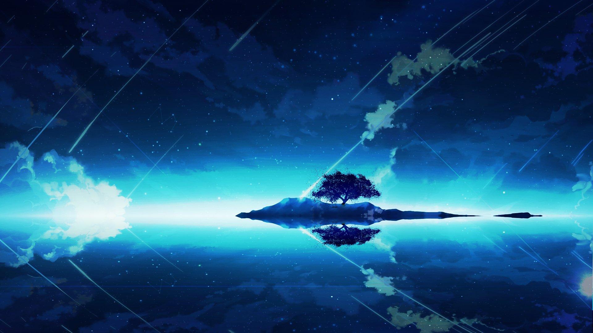 Anime - Original  Blue Wallpaper