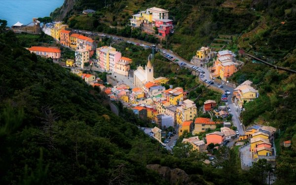 Man Made Liguria Towns Italy House Village Colorful HD Wallpaper | Background Image