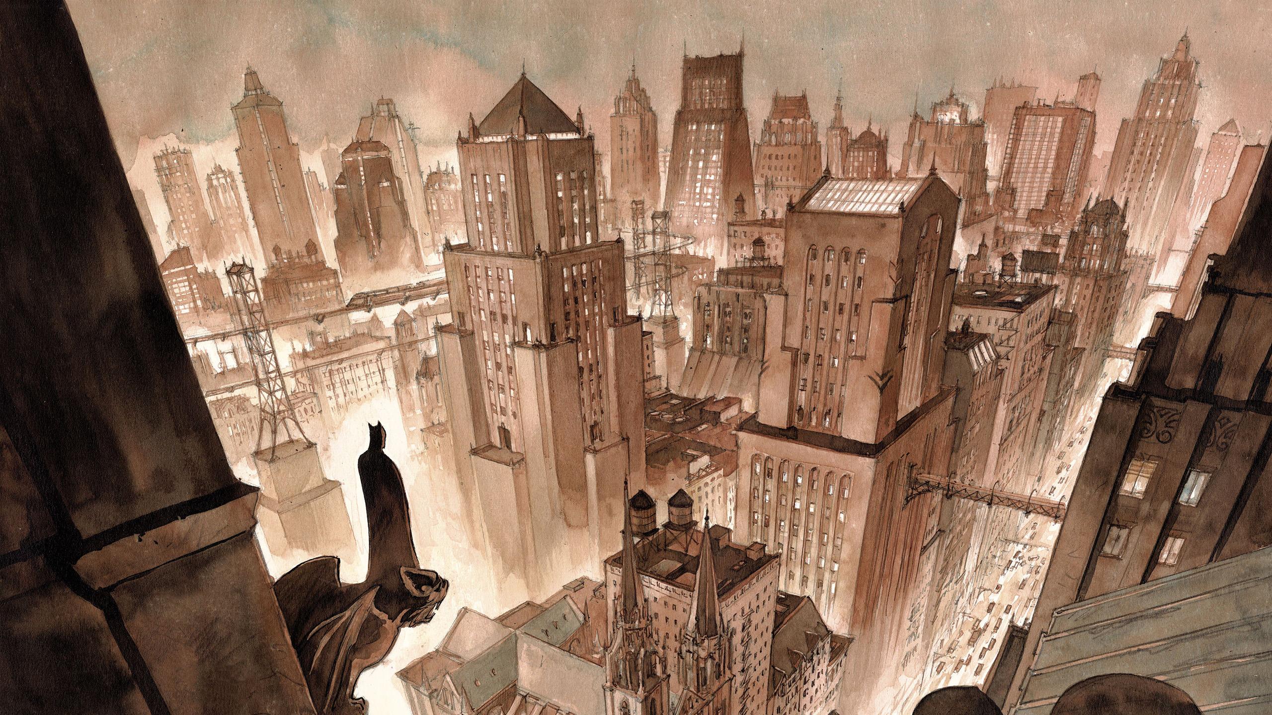 Artist Version Of Gotham City Fondo De Pantalla Hd Fondo