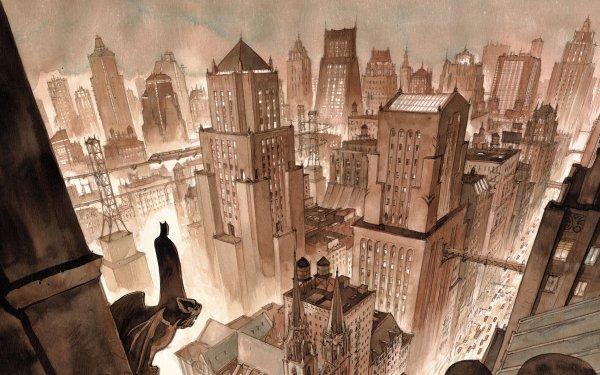 Comics Batman Gotham City HD Wallpaper   Background Image