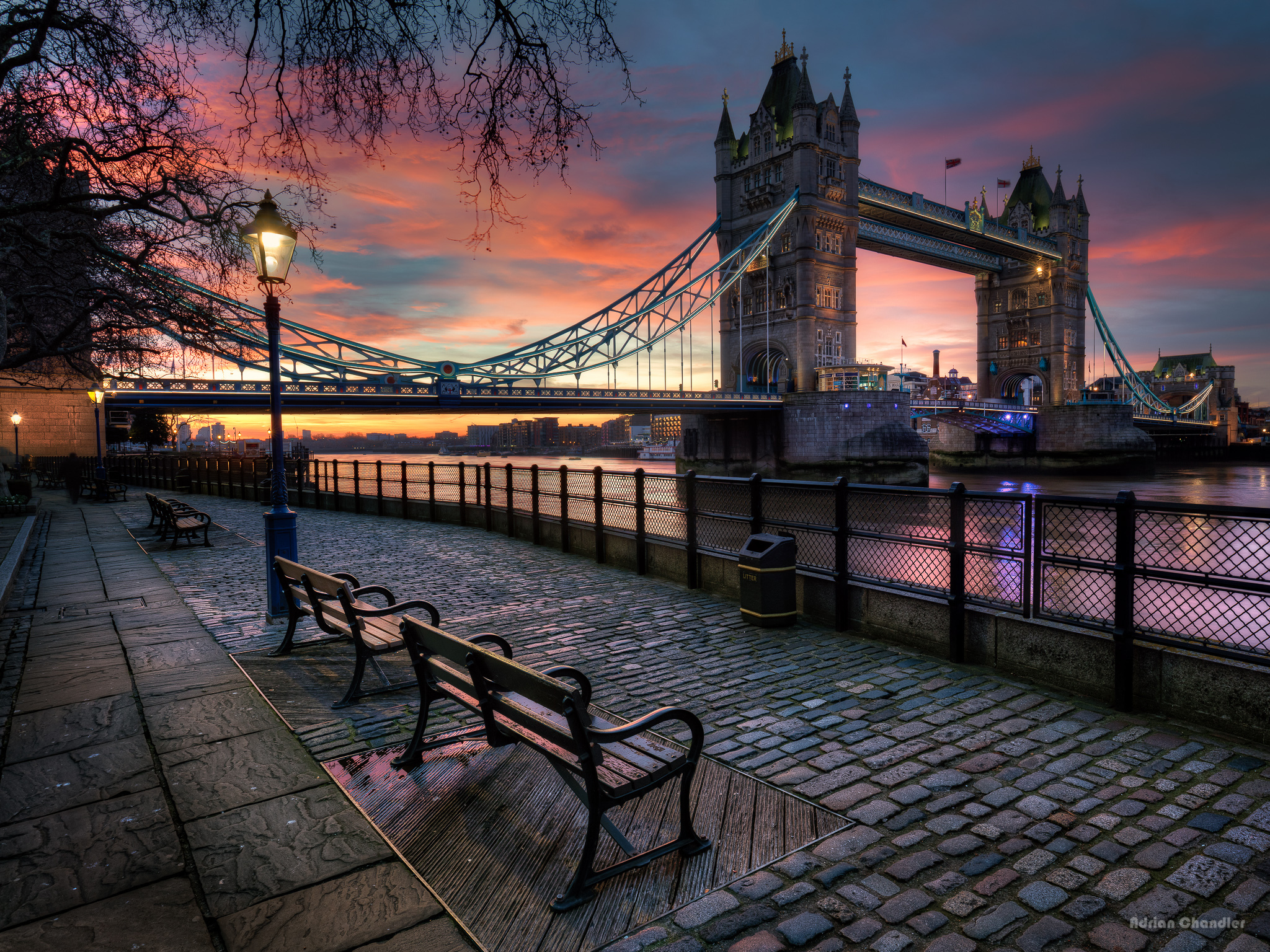 View Of Tower Bridge At Sunset HD Wallpaper