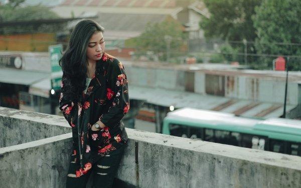 Women Model Models Woman Asian Indonesian Black Hair HD Wallpaper | Background Image