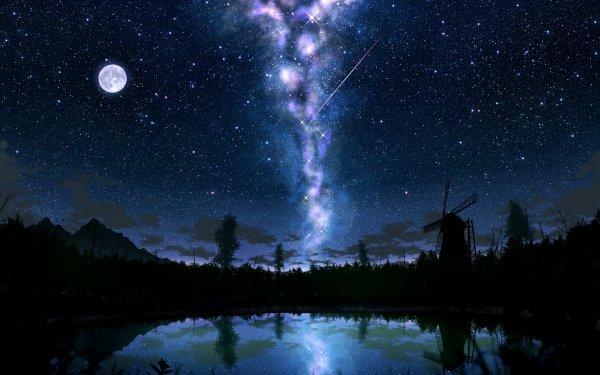 Anime Original Windmill HD Wallpaper | Background Image